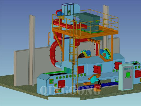 mesh belt shot blasting machine 4